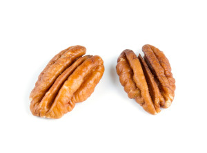 pecan nuts over white